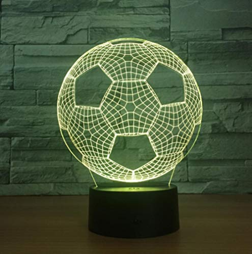 ZJFHL 3D Night Light Vision Stereo Led 3D Illusion Table Lamp Fußball7 Color Changing Lamp Boy Child Gifts -