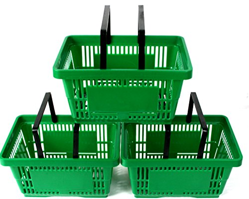 pack-of-10-plastic-2-handle-shopping-baskets-retail-shop-use-green