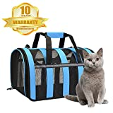Cat Carrier - Portable Pet Travel Carrier - Small Animals Carrier, Airplane Approved, Perfect for Small Dogs, Cats, Birds, Rabbits, and Ferret