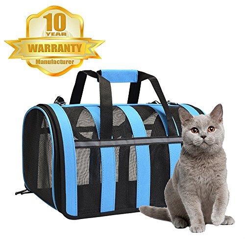Petdiary Tragbare Hundetragetasche Katzentragetasche - Small Tiere Carrier Tragetasche Flugtasche Transporttasche Reisetasche für Hund oder Katze (Carrier Hund Tragetaschen)
