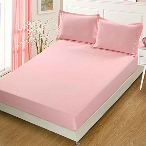 Luckilytop 3pcs / Set Feste Matratze-Abdeckung Anti-Rutsch-Stretch Bettlaken Antistaubmilbe Bettpolster Matratze Spannbettlaken mit Pillowcase