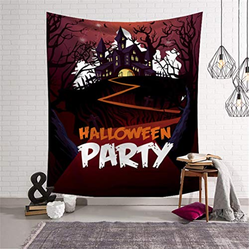 Jamicy® Halloween Tapisserie Horror Bloody Ghost Print Wandbehang -
