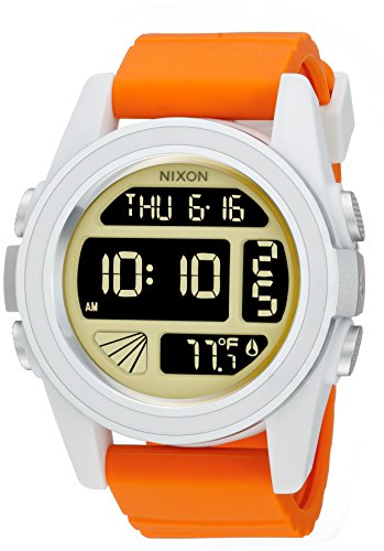 Nixon Men's 'Unit SW, Rebel Pilot' Japanese Automatic Rubber and Silicone Casual Watch, Color:Orange (Model: A197SW-2384-00) (Nixon Unit Uhr)
