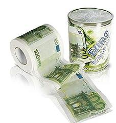 Idea Regalo - Rocita - Carta igienica con motivo banconote da 100 euro per toilette