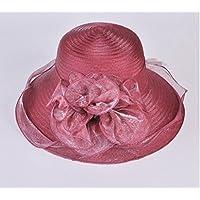 Organza gran sombrero de ala ancha, la Sra retro palacio pescador de cubo sombreros, sombreros de sol de la playa