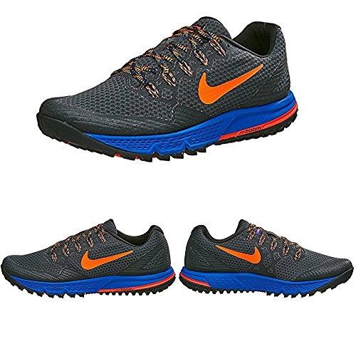 Nike Herren Air Zoom Wildhorse 3 Laufschuhe Gris / Naranja / Negro (Anthracite / Ttl Crimson-Rcr Bl)