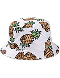 Kuyou Damen Sonnenhut Fischerhut Ananas Sommer Kappe Hüte