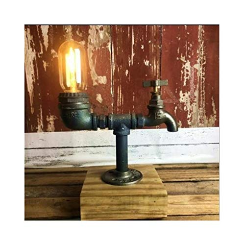 XH shop Tubería de agua del grifo creativo lámpara de mesa retro ...