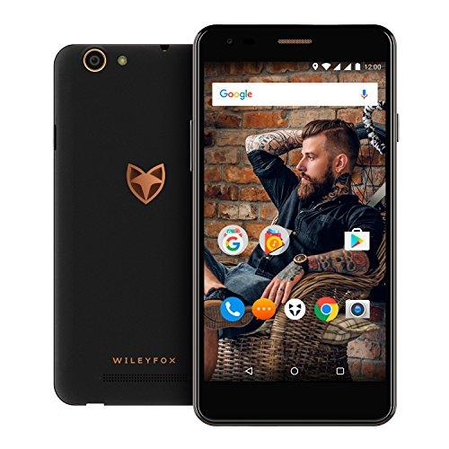 Wileyfox Spark X - 5,5-Zoll-HD Display (Dual-SIM-Funktionalität 4G) SIM freies Smartphone, 3000mAh Akku, 13MP Kamera, 2GB RAM, Android 7.0 (coming soon)  - Schwarz