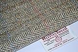Harris Tweed Stoff 100% reine Schurwolle klassisch grün