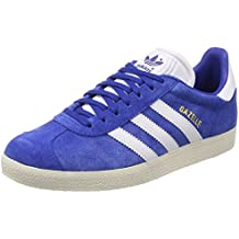 Adidas Gazelle Bleu Blanc Baskets Homme Sneakers Blue White S76227