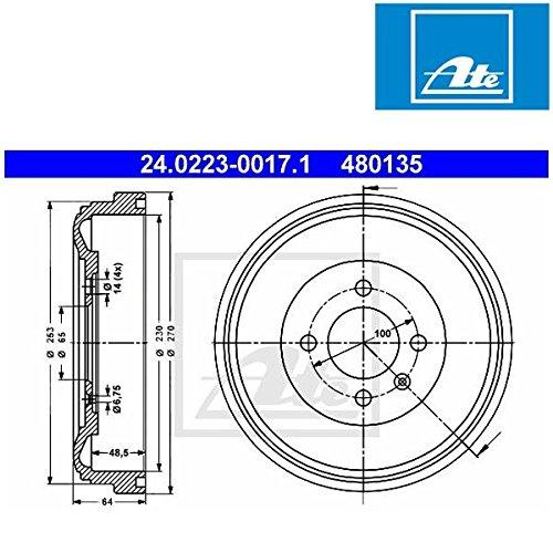 Preisvergleich Produktbild ATE 24022300171 Bremstrommel