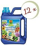 Oleanderhof® Sparset: 12 x COMPO Gartendünger Blaukorn® NovaTec® flüssig, 2,5 Liter + gratis Oleanderhof Flyer