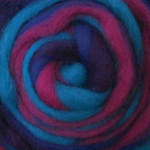 Wistyria Editions 12-Inch Wool Roving Stripe, 0.25-Ounce, Jester by Wistyria Editions