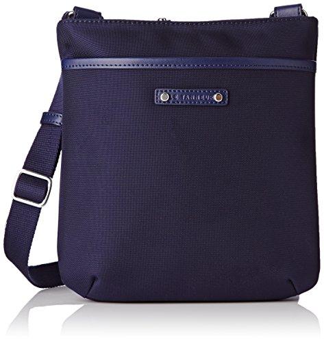 Le Tanneur Swana Uni, Borsa a tracolla donna , Blu (Bleu (B8)), Taille Unique