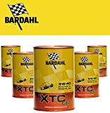 BARDAHL XTC 5W40,C60, OLIO MOTORE 100%25 SINTETICO AUTO A BENZINA E DIESEL 5 LIT