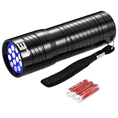 LE Ultraviolett LED UV Taschenlampe mit 12 LEDs 395nm, UV-Strahler, Handlampe, Prüfgerät, Fleckendetektor / Urindetektor für Haustiere wie Katze, Hund usw - Mobile Computer Sedia Di Operazione