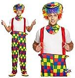 Clown - Regenbogen farbigen Kostüm