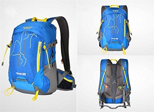 Bergsteiger-Rucksack Tasche Männer und Frauen tragen leichte atmungsaktive wasserdichte Tasche 25L30L Reiten Blau