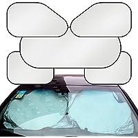 Eximtrade Auto 6in1 Pieghevole Parasole Copertina Deflettore Parabrezza Finestra Calore UV Raggi Riflettore Protezione per Auto Camion SUV