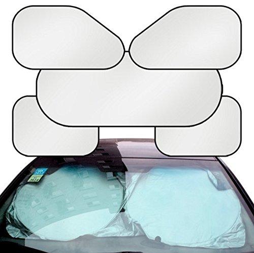 Preisvergleich Produktbild Eximtrade Auto 6in1 Faltbar Sonnenschirm Deflektor Windschutzscheibe Fenster Sonnenblende Hitze UV-Strahlen Reflektor Sonnenlicht Schutz für Auto LKW SUV