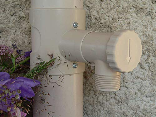Capt'eau Récupérateur d'eau de Pluie pour Conduits Circulaire (Sable)