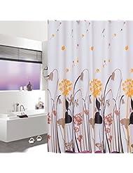 D G F Cortina de la ducha de PEVA Cuarto de baño interno Cortina de ducha de la alta calidad Niebla impermeable Cortina colgante de la planta transpirable Multi-tamaño Opcional ( Tamaño : 180*180cm )