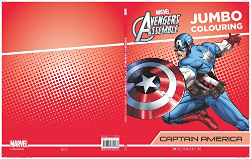 Captain America Jumbo Colouring (Marvel Avengers Infinity War)