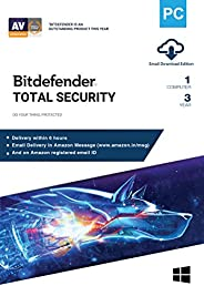 BitDefender Total Security Latest Version with Ransomware Protection (Windows) - 1 User, 3 Years (Email Delive