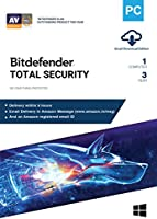 BitDefender Total Security Latest Version (Windows) - 1 User, 3 Years (Email Delivery in 2 hours - No CD)