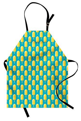 ABAKUHAUS Amarillo Y Azul Delantal de Cocina