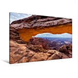 Premium Textil-Leinwand 120 cm x 80 cm quer, Mesa Arch - Canyonlands National Park | Wandbild, Bild auf Keilrahmen, Fertigbild auf echter Leinwand, Leinwanddruck (CALVENDO Natur)