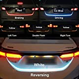 #5: Fabtec Premium Quality Streamer Brake Turn Signal Flow LED Strip Trunk Light (Triple Color) For Universal Car Model