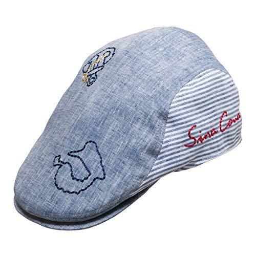 SINA COVA Herren Mütze Newsboy - Blau - Einheitsgröße (Erwachsene Blau Yacht Hut)