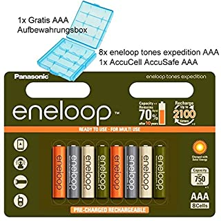 Panasonic eneloop Expedition, Ready-to-Use Ni-MH Akku, AAA Micro, 8er Pack, 2000mAh, 2100 Ladezyklen, Limitierte Sonderedition