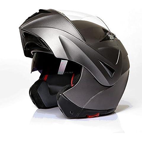 Casco integral, casco de moto, CMX Prometheus, gris mate, titanio