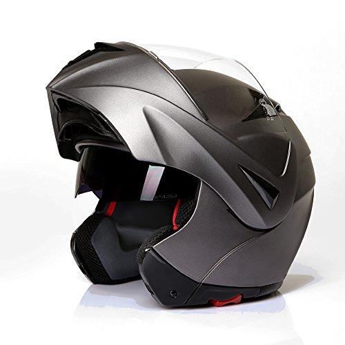 Klapphelm Integralhelm Motorradhelm CMX Prometheus matt grau,titan