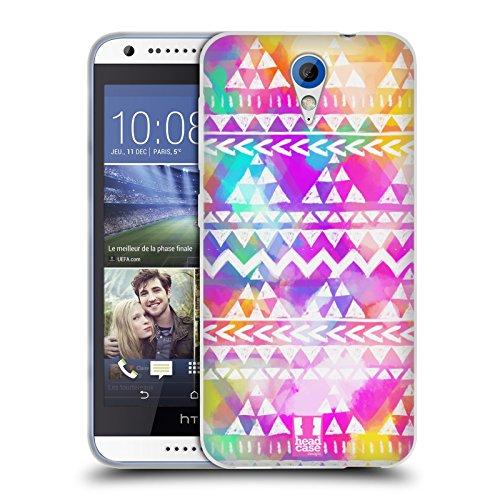 Head Case Designs Farbig Aquarell Tribal Muster Soft Gel Hülle für HTC Desire 620 / 620 Dual Sim