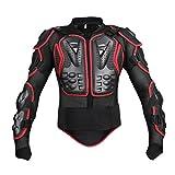 Dexinx Motorrad Radfahren Reiten Full Body Armor Rüstung Protector Professionelle Street Motocross Guard Shirt Jacke mit Rückenschutz Schwarz Rot S