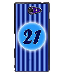 Fuson 2D Printed Numerology Designer back case cover for Sony Xperia M2 - D4241