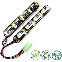 Keenstone 9.6V NiMH 1600 mAh batería Mini mariposa Mini conector Tamiya para armas de Airsoft guns G36C, M4A1-RIS, M4A1, CAR15, MP5A5, MC51, FNP90, AUGRT,AUGM, G3A4, G36, STEYR, Uso en ERA002, ERA004, ERICS13, EROA002, EROA003, SDGE0507R2, SDGE0501R2, actualizados/ modificados AEGs
