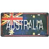 Shinewe Australien Vintage Blechschild Metall Poster Nummernschild Passform für Bar Pub Home Dekoration 15x 30cm