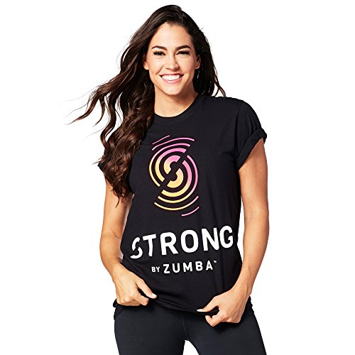 Zumba Fitness Damen Strong by Zumba Tee Unisex Tops, Back to Black, XL/XXL Tee Duffel