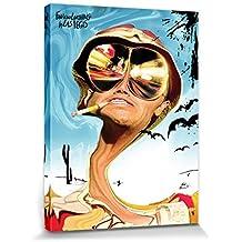 1art1® Miedo Y Asco En Las Vegas - Johnny Depp Cuadro, Lienzo Montado Sobre Bastidor (80 x 60cm)