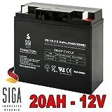 Akku 20Ah 12V AGM Blei GEL Batterie Rasenmäher Rasentraktor Aufsitzmäher Boot Scooter 17Ah 18Ah