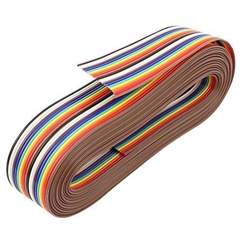 sourcingmap® 3,66M 20 Stift Regenbogen Farbe Flachbandkabel IDC Draht Kunststoff Kupfer (Fc-kupfer-kabel)
