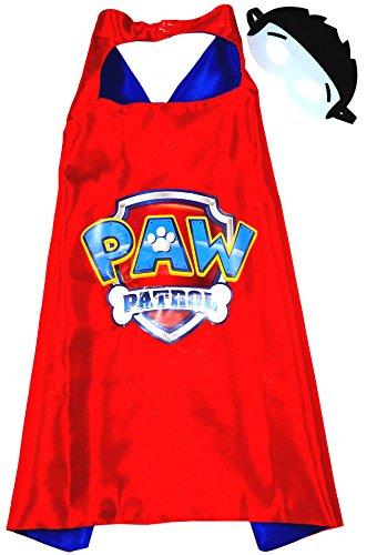 Paw Patrol Ryder Cape und Maske-Mäntel, Umhänge für Kinder Superhelden-Kostüme für Kinder-Spielsachen für Jungen und Mädchen-Kostüm für Kinder von 3 bis 10 Jahre-für Superheld-King Mungo (Patrol Paw Für Kostüme Marshall Kinder)
