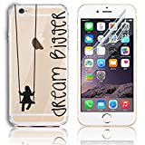 iPhone 6S Plus Case,iPhone 6 Plus TPU Cover with Free Screen Protector, Sunroyal Clear Soft TPU Silicone Gel Shock Proof Soft Durable Scratch Resistant Rubber Transparent Skin Shell Protective Case Cover for iPhone 6 Plus 6S Plus 5.5 inch with Beautiful Colourful Pattern Design - Girl