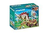 Playmobil Dinos 9432 Veicolo degli Esploratori e Stegosauro, dai 4 Anni
