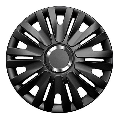 16 Zoll Radkappen Delta (Schwarz) passend für Fast alle Fahrzeugtypen (Honda 16 Radkappen)